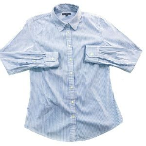 NEW Gap Poplin Pinstripe Button Down
